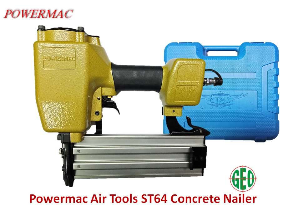 POWERMAC AIR TOOL - ST64 CONCRETE NAILER WITH CARRY CASE