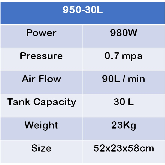OUTSTANDING 980W 30L OIL FREE / OIL LESS SILENCE AIR COMPRESSOR