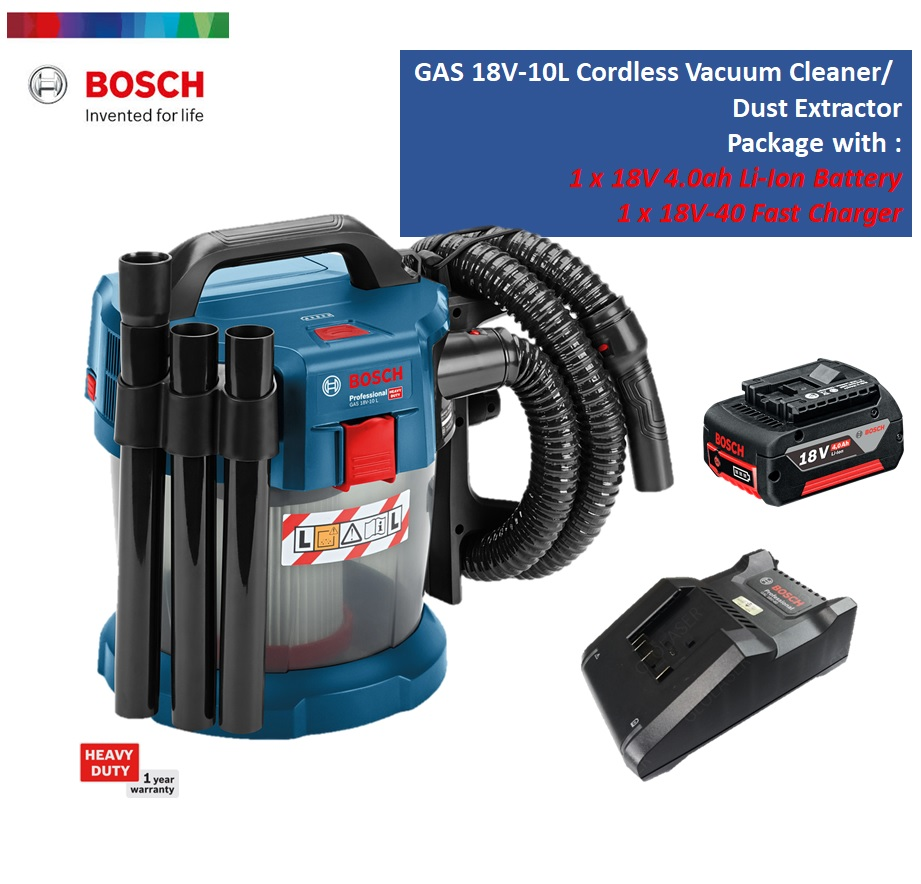 Bosch GAS 18V-10 L Professional Cordless Wet and Dry Vacuum Cleaner Dust Extractor - SOLO Unit