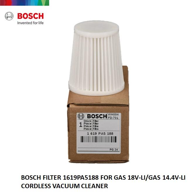 BOSCH HEPA FILTER For GAS18V-Li / GAS14.4V-Li CORDLESS VACUUM 1619PA5188