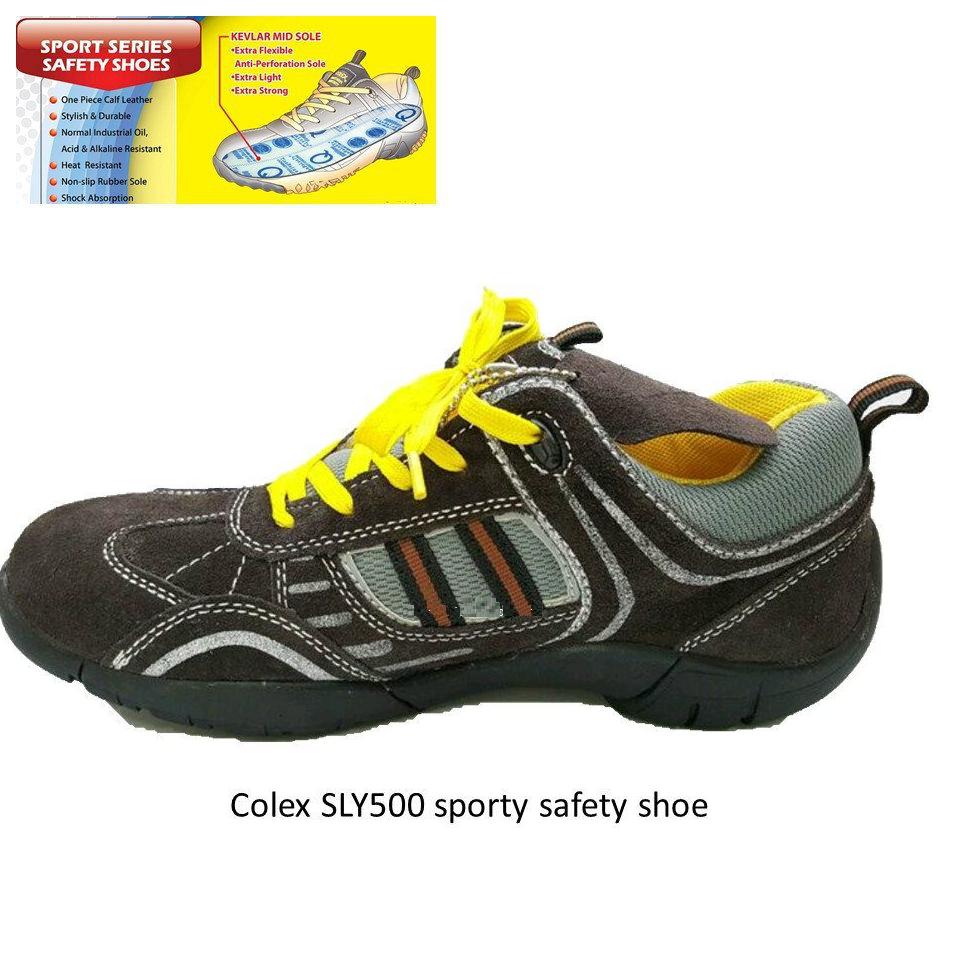 COLEX SLY500 SPORTY SAFETY SHOES (SIZE UK4-UK12)
