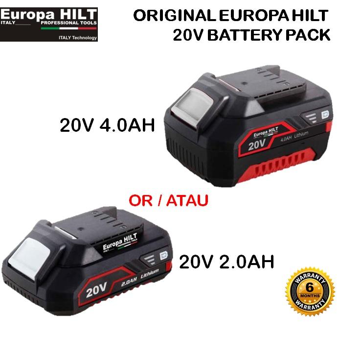 ORIGINAL EUROPA HILT 20V LI-ION BATTERY PACK WITH BATTERY LEVEL INDICATOR