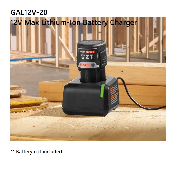 Bosch GAL 12V-20 12V Max Lithium-Ion Battery Fast Charger
