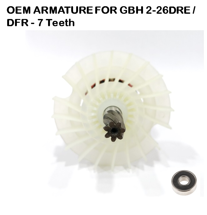 OEM ARMATURE FOR GBH 2-26DRE / DFR - 7 Teeth (240V)