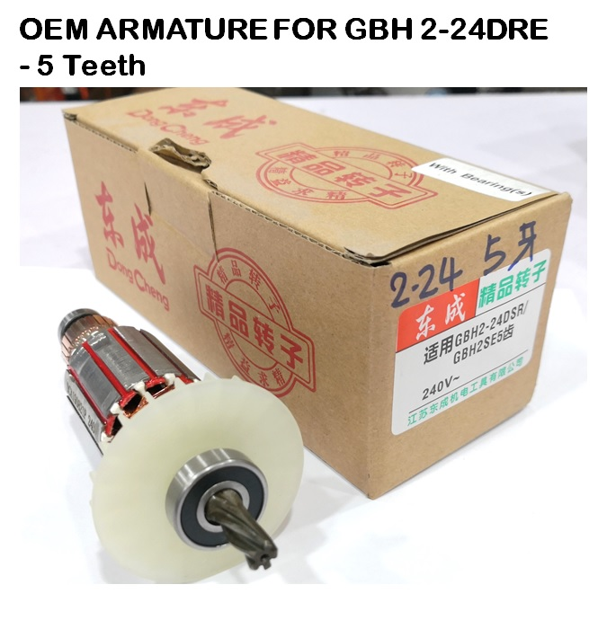 OEM ARMATURE FOR GBH 2-24DRE - 5 Teeth (240V)