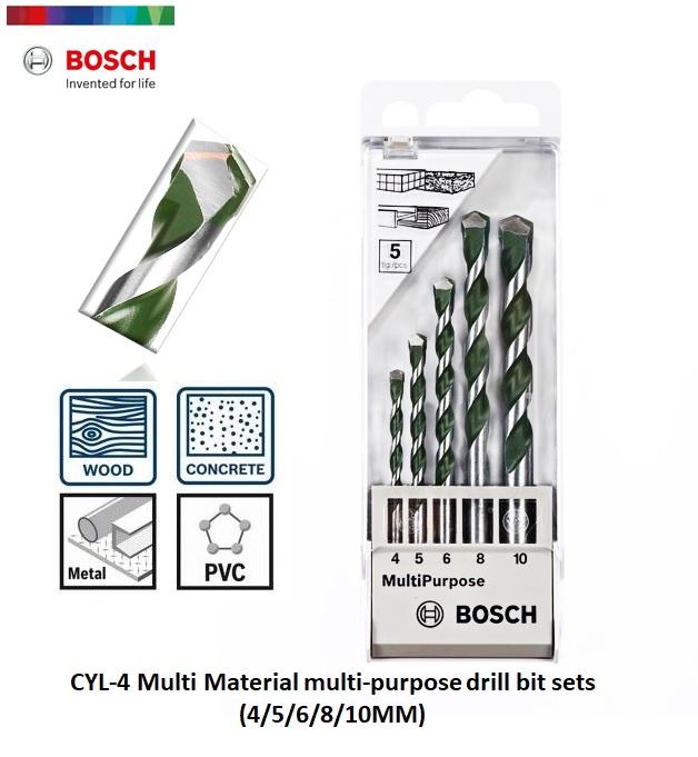 BOSCH CYL-4 5-PIECE MULTI MATERIAL MULTI PURPOSE DRILL BIT SETS 2608680798