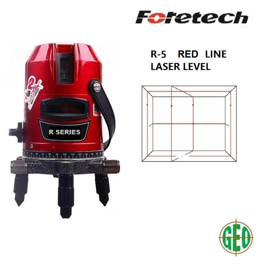 FORETECH R5 5 LINES (4 VERTICAL 1 HORIZONTAL, 6 DOTS) LASER LEVEL