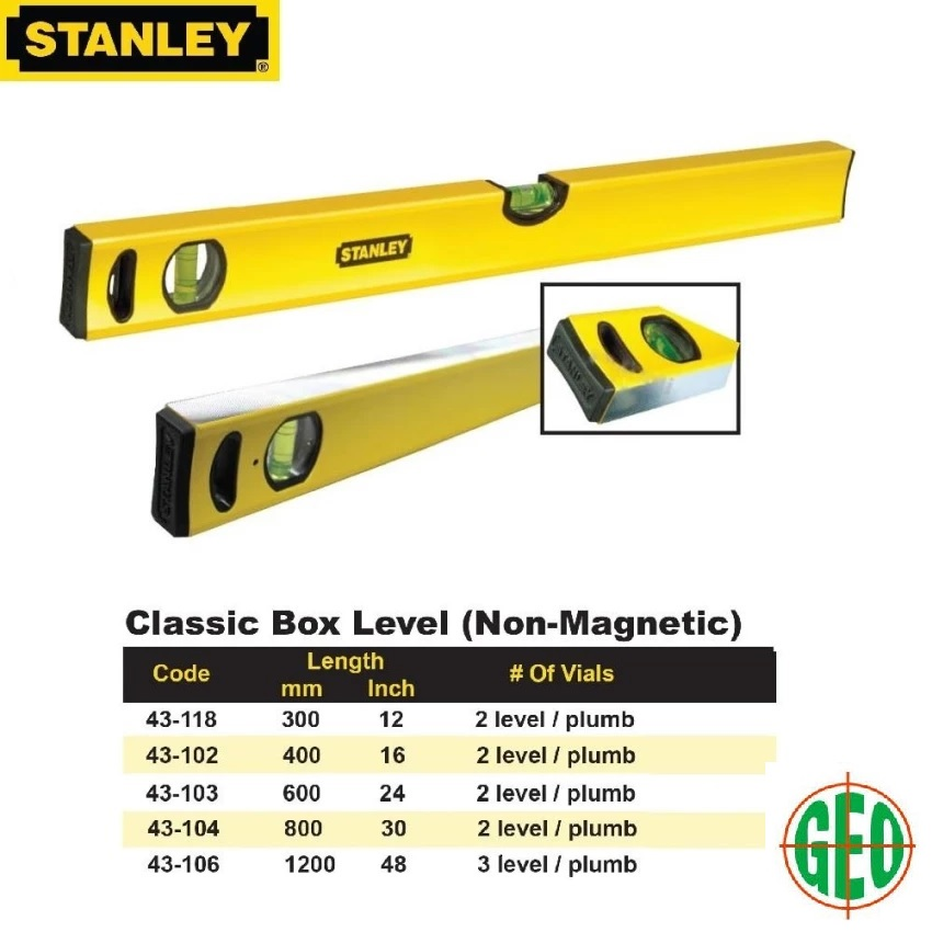 STANLEY® 48IN/1200MM CLASSIC BOX-BEAM