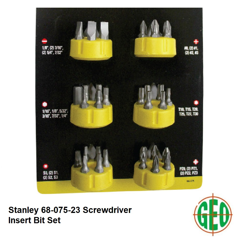 Stanley 68-075 36pcs Screwdriver Insert Bill set