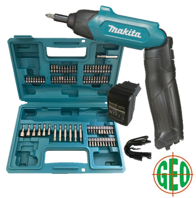 MAKITA DF001DW 3.6V CORDLESS SCREWDRIVE WITH 81PCS ACCESSORIES AND CASE