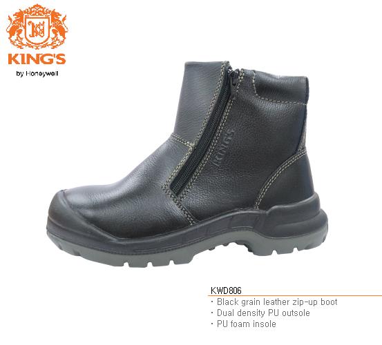 KING'S KWD806 Full grain leather zip-up boot